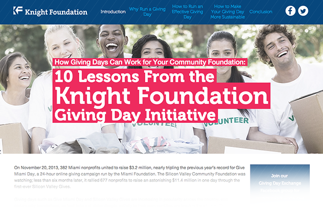 10 lessons for Giving Days, and one question: How can we make them more sustainable?