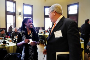 Macon arts community connects at Knight luncheon
