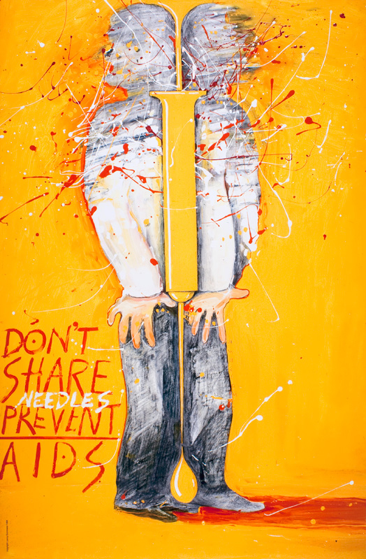 The message in the image: AIDS poster art