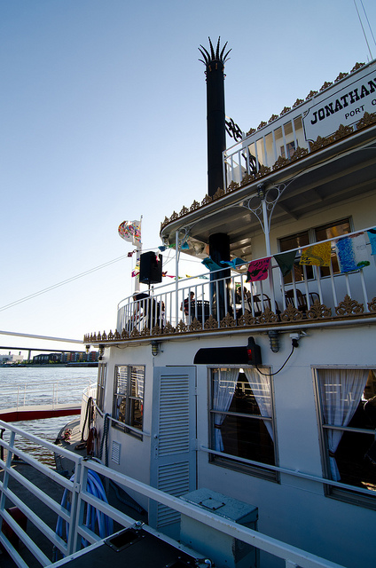 The floating 'River City Revue' cruises through art, science and Mississippi River history
