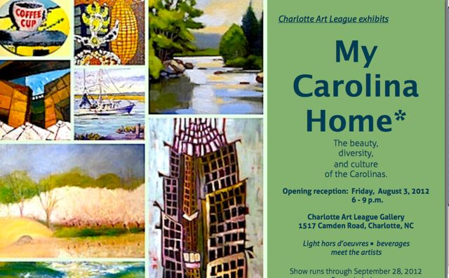 """My Carolina Home"" at the Charlotte Art League"