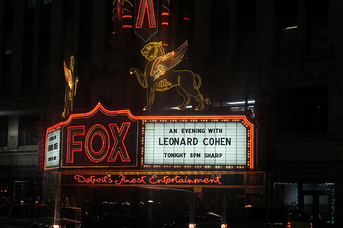Leonard Cohen represents the old school at the Fox Theater