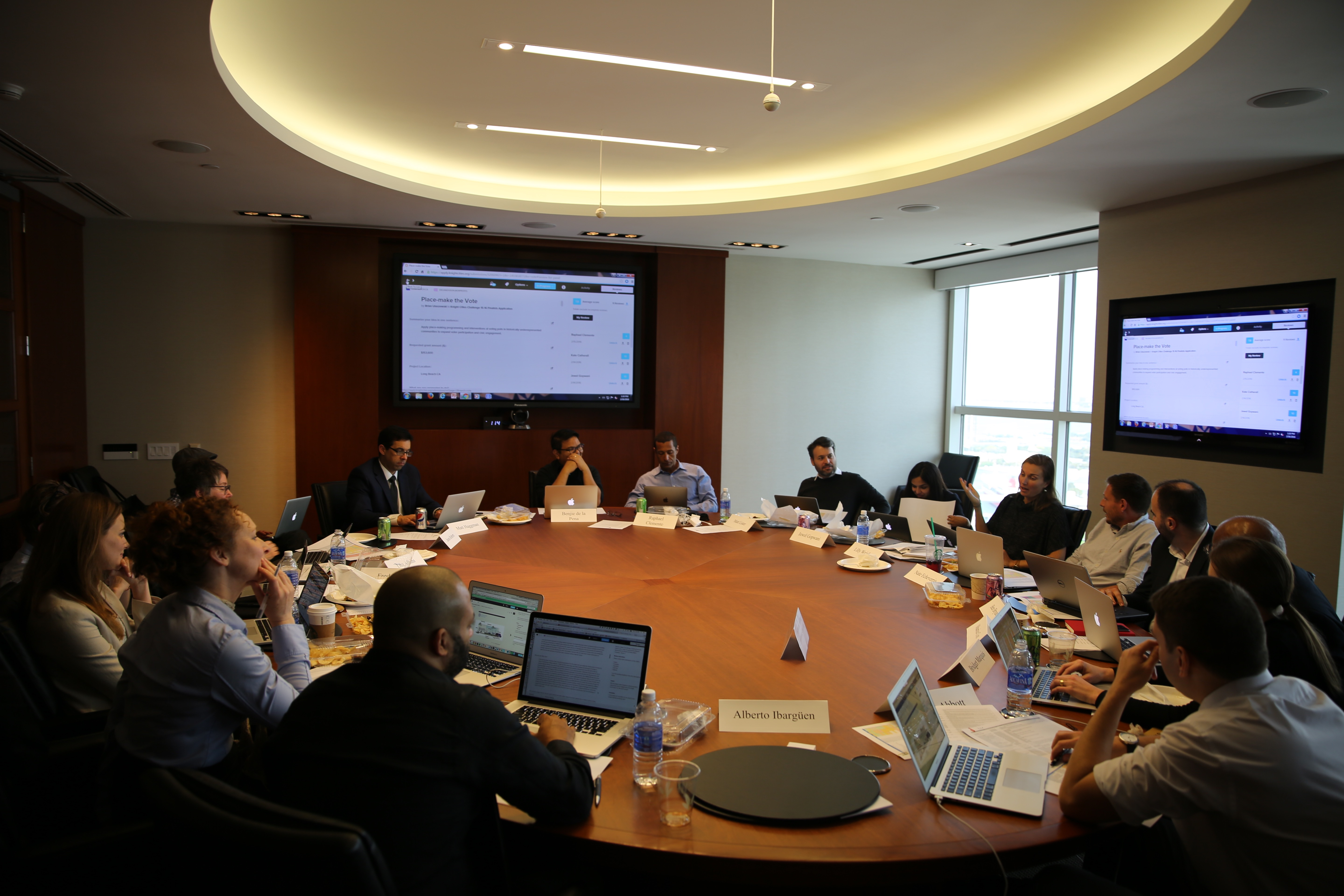 Knight Cities Challenge reviewers meet in Miami to discuss finalist applications