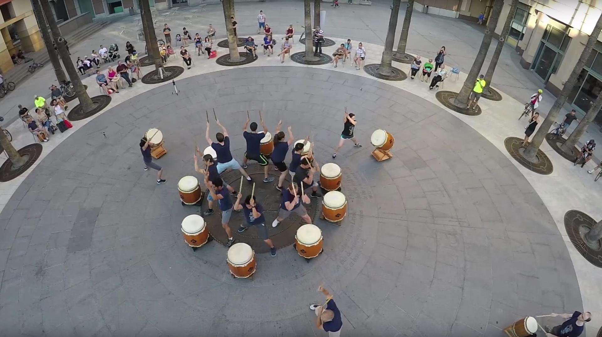 San Jose Taiko's experimental performances tap unique urban spaces