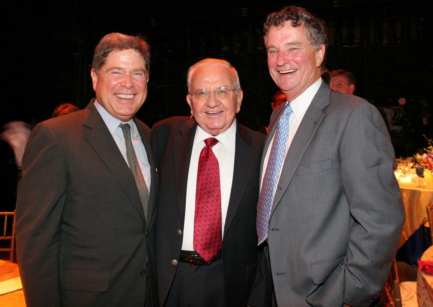 Knight President Alberto Ibargüen, left, with past presidents Creed Black (1988-1996) and Hodding Carter III (1997-2005) in 2005.