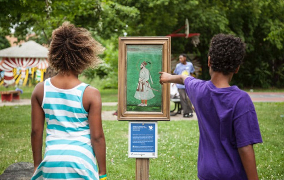 """<p><strong>Imagine coming across a Renoir or a Picasso in your neighborhood. The <a href=""""http://www.insideoutusa.org/"""">Inside Out</a> program brings art into&nbsp;people's everyday&nbsp;lives.&nbsp;</strong></p>"""