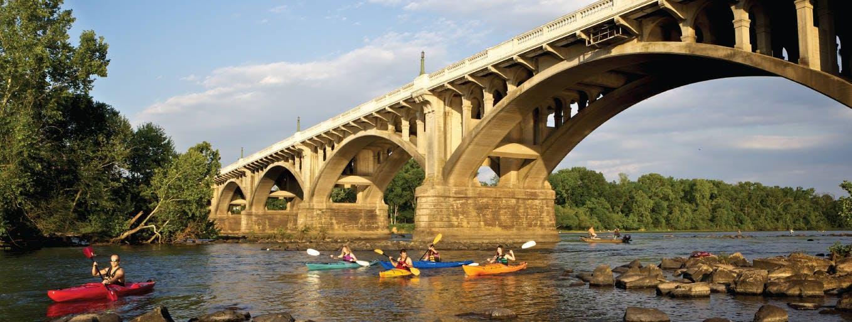 Kayaking in Columbia, South Carolina.