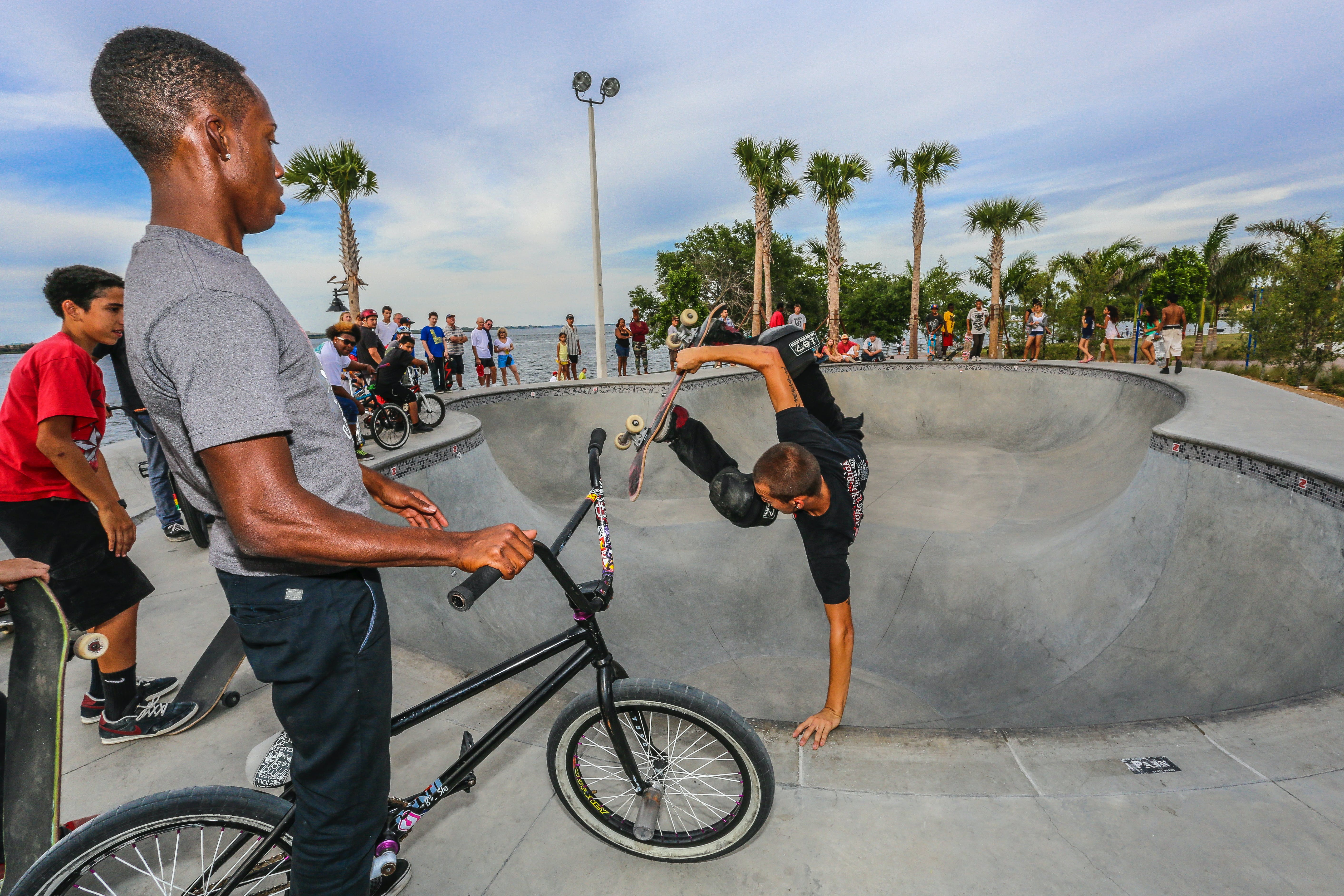 <p>People of all ages visit&nbsp;the skatepark at the&nbsp;Bradenton, Florida, Riverwalk.&nbsp;</p>