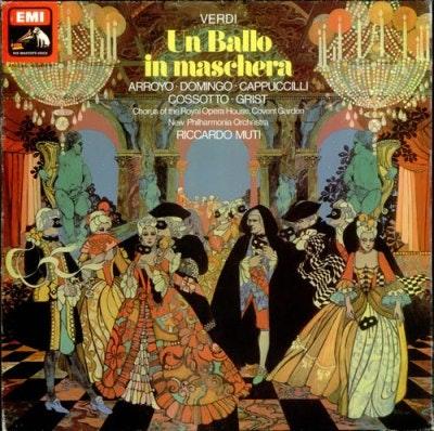 """<p>Conductor Riccardo Muti's version of """"Un Ballo in Maschera,"""" with vocals by Placido Domingo, Martina Arroyo, Fiorenza Cossotto and Piero Cappuccilli, is a favorite.</p>"""