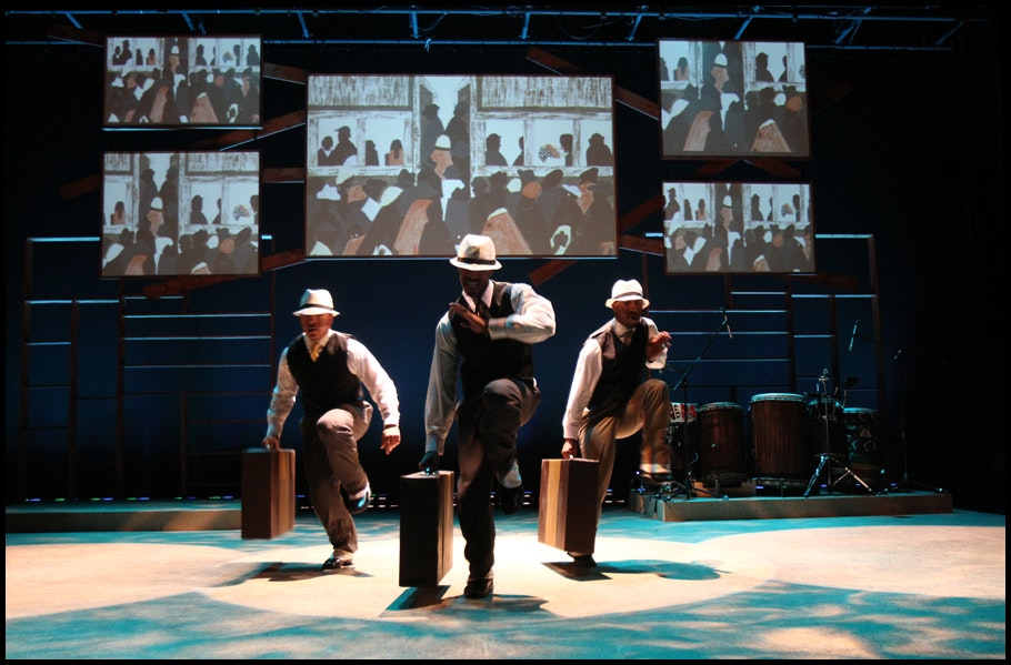 "<p><em>""The Migration: Reflections on Jacob Lawrence"" by Knight Arts Challenge winner Step Afrika! USA Inc. Photo by Jati Lindsay.</em></p>"
