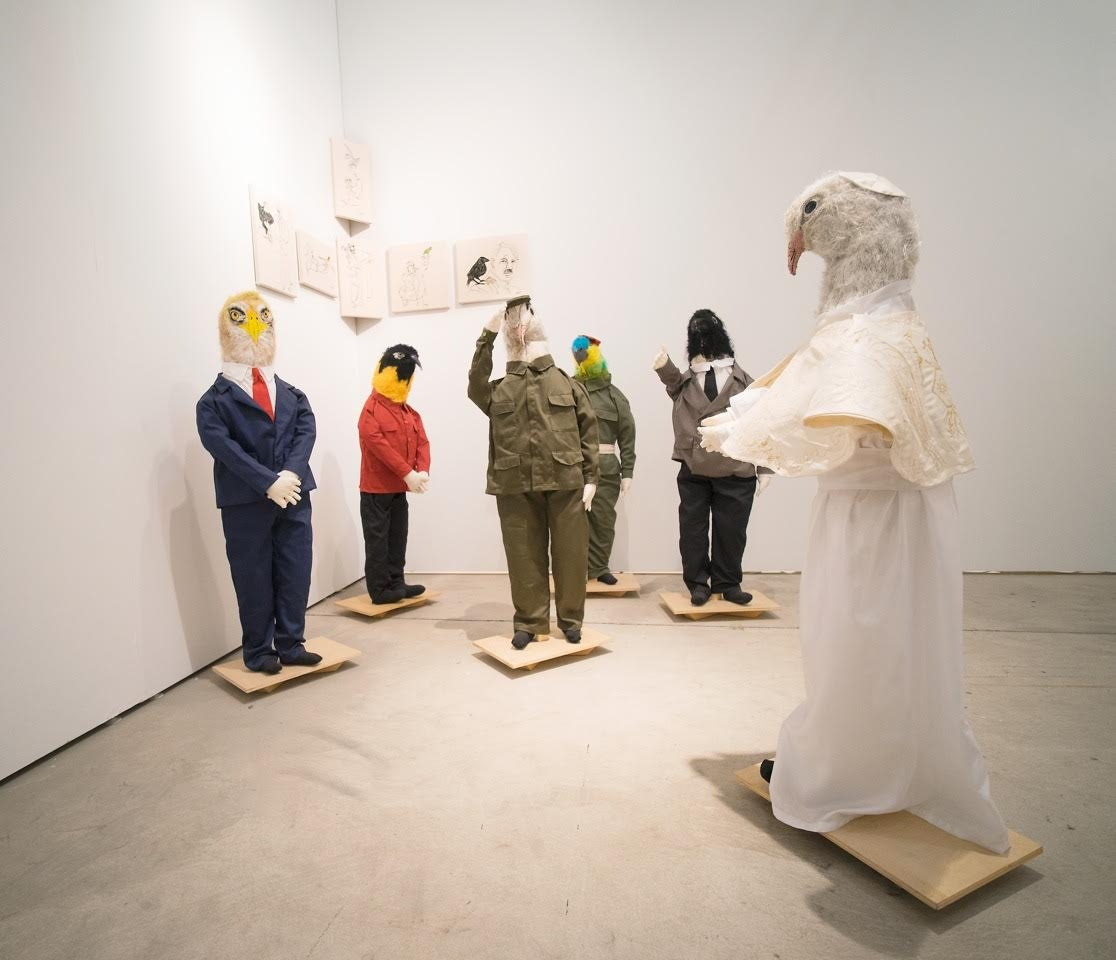 <p>The Aurora Molina installation at Art Miami.</p>