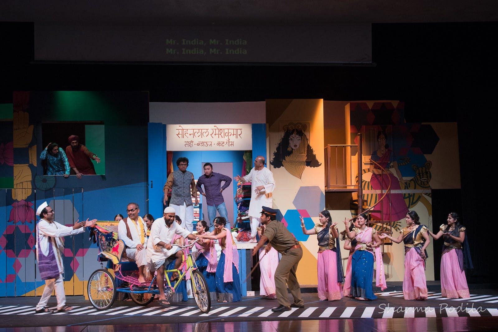 <p><em>Naatak production of &quot;Mr. India.&quot; Photo by Sharma Podila.</em></p>