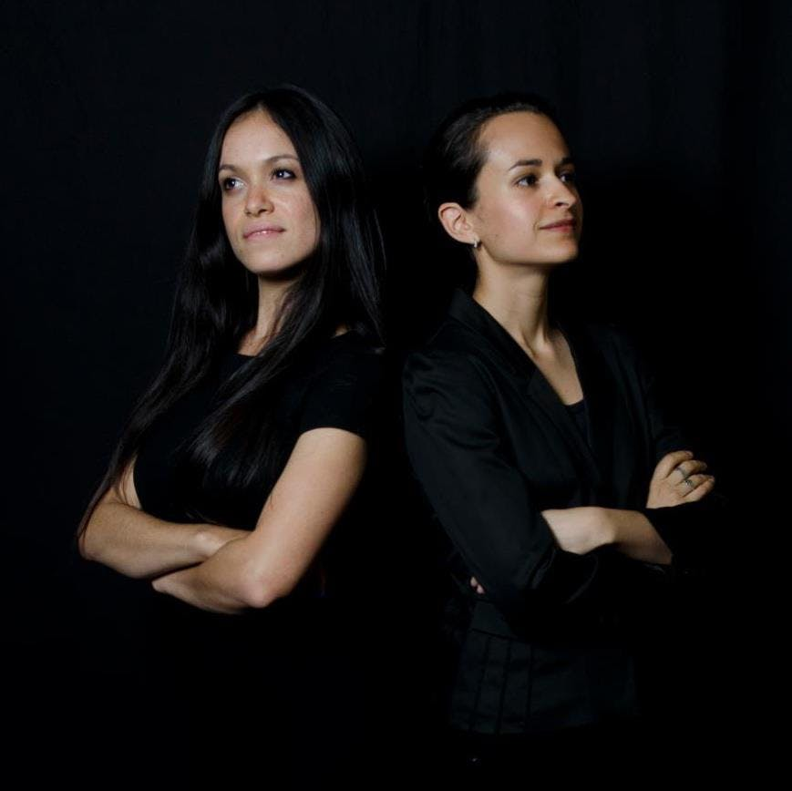 <p>Maya Escobar and Andria Morales of American Media Output.&nbsp;</p>