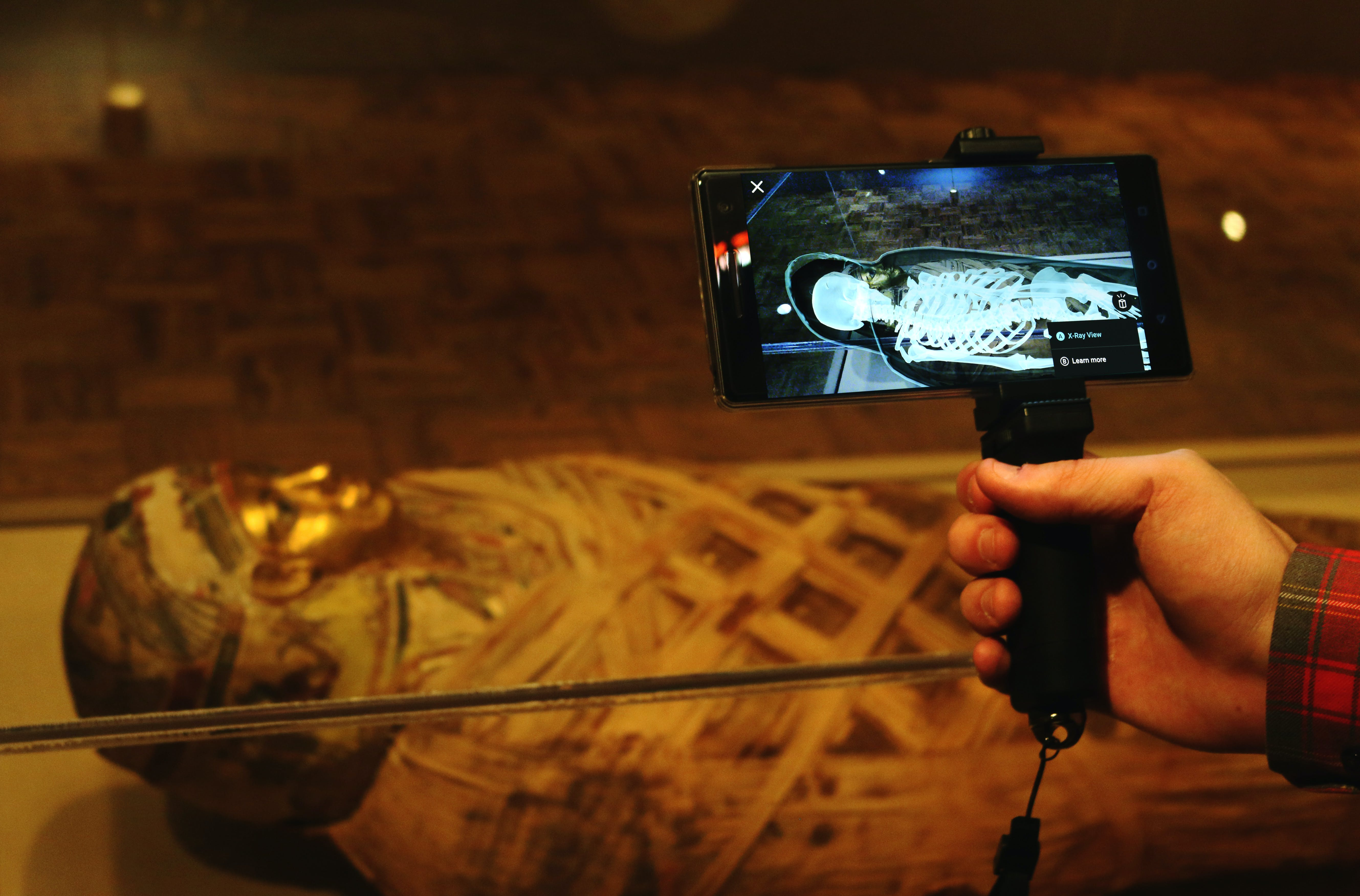 <p><em>Lumin helps visitors see inside an ancient mummy. Photo courtesy of the Detroit Institute of Arts.</em></p>