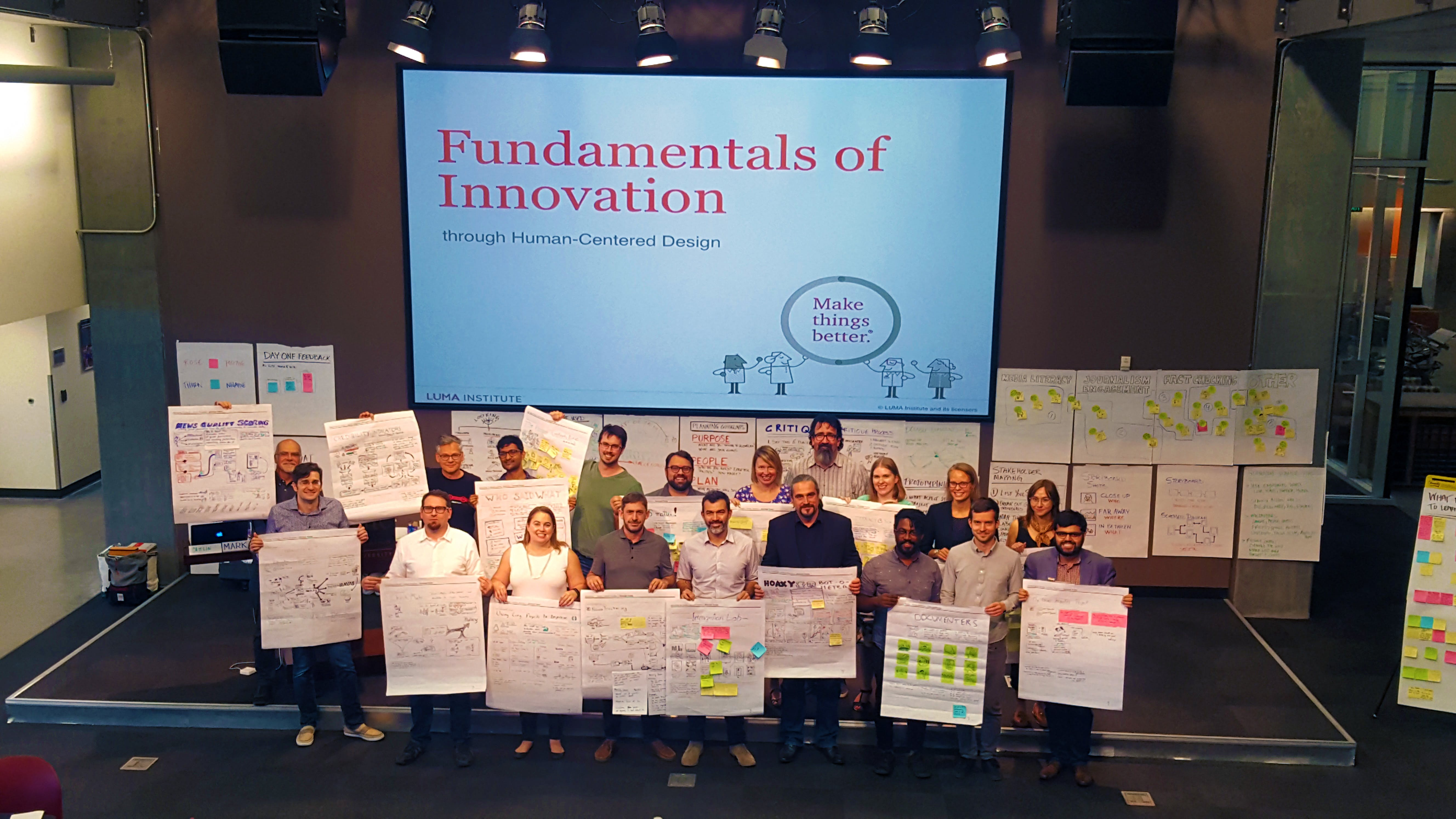 <p><em>The winners of the 2017 Knight Prototype Fund open call completed LUMA human-centered design training in Phoenix this week.</em></p>
