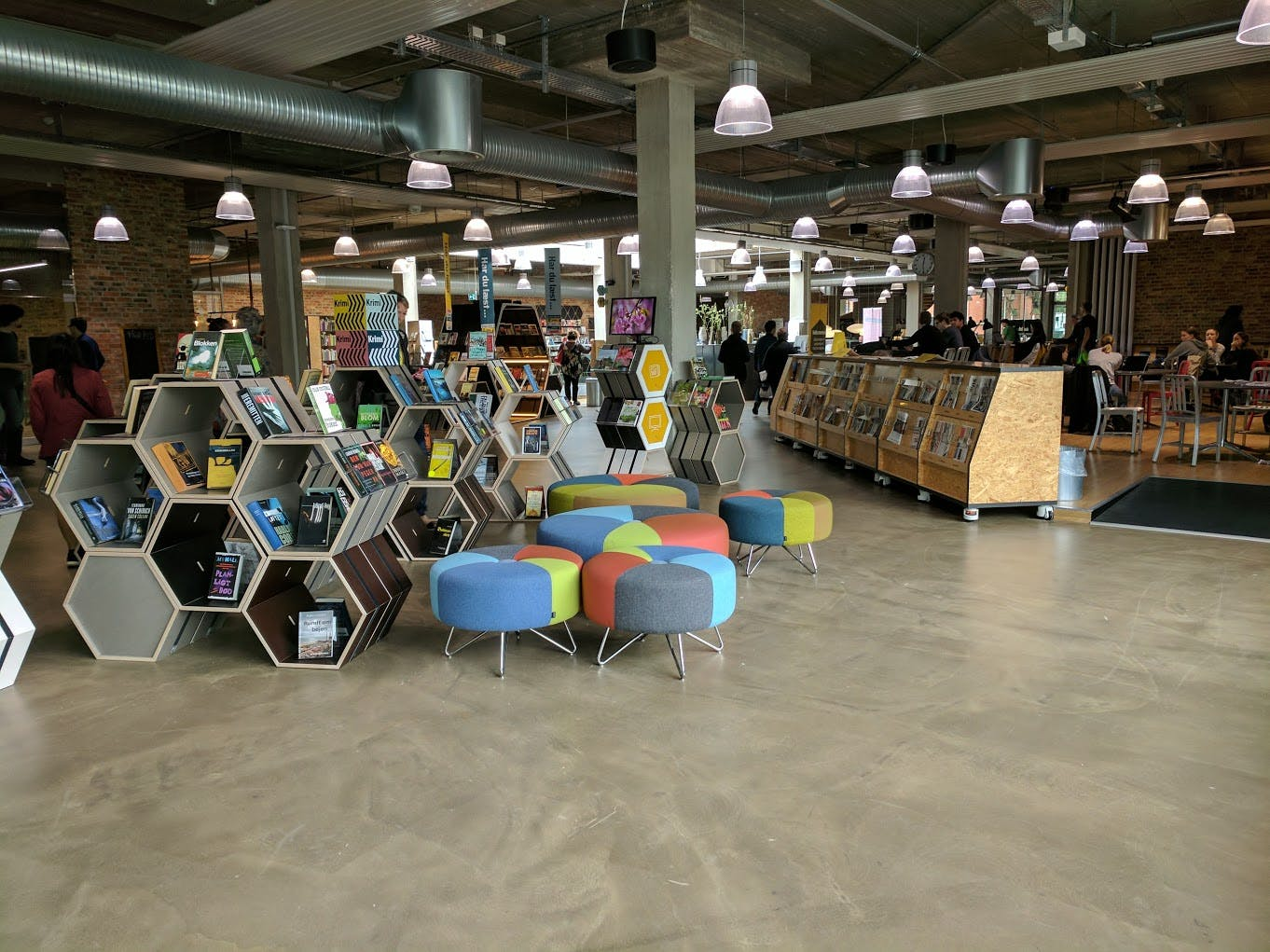 <p><em>Herning Bibliotekerne, once a grocery store, has been transformed into a vibrant multiuse space. It&#39;s like a second living room for community members, but with the invaluable added resource of a knowledgeable library staff. Photo: Julie Oborny</em></p>
