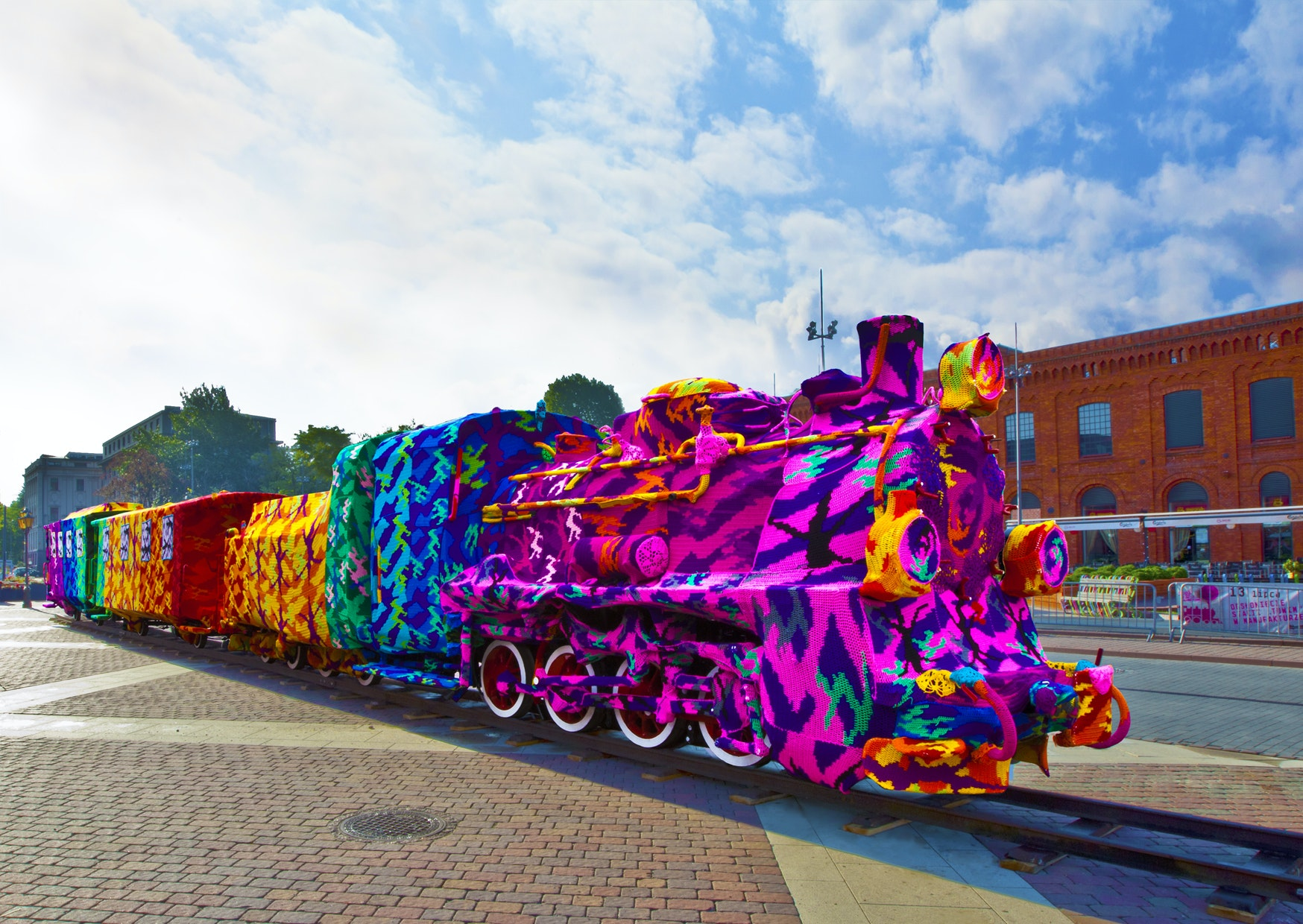 """<p>Cindy Michael/Harps and Thistles wants commemorate Sojourner Truth's Akron speech """"Ain't I A Woman?"""" in a large-scale, public crochet installation as part of a national project by Polish-American artist Olek. Photo Credit: Olek.</p><p><br></p>"""