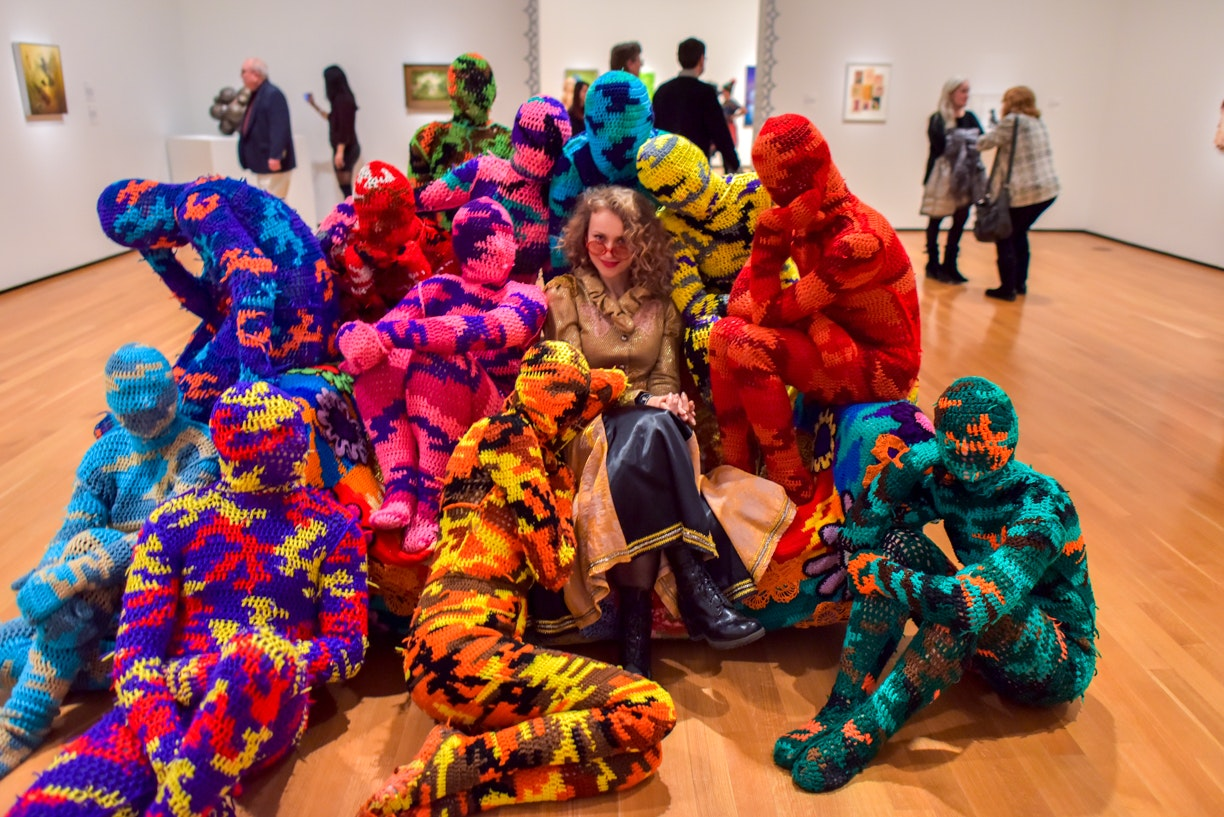 <p><em>Providing opportunities for public engagement with art is a key commitment at Akron Art Museum. This art encounter took place at the opening reception for Turn the Page: The First Ten Years of Hi-Fructose in February 2017. Photo: Shane Wynn</em></p>