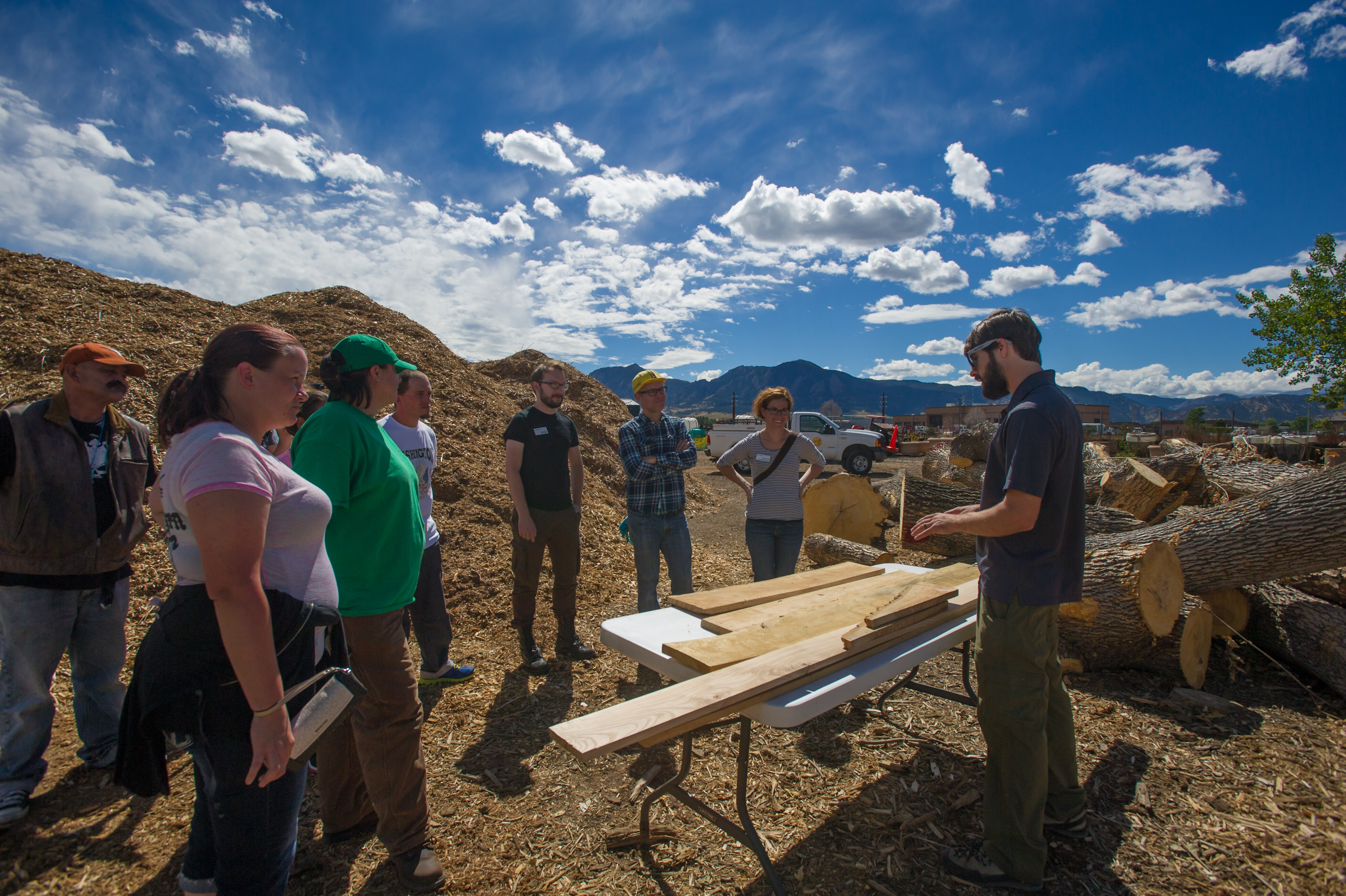 <p><em>The first TreeOpp class, where apprentices learn about the reclaimed wood they'll be working with. Photo courtesy of Boulder Tree Opp.</em></p>