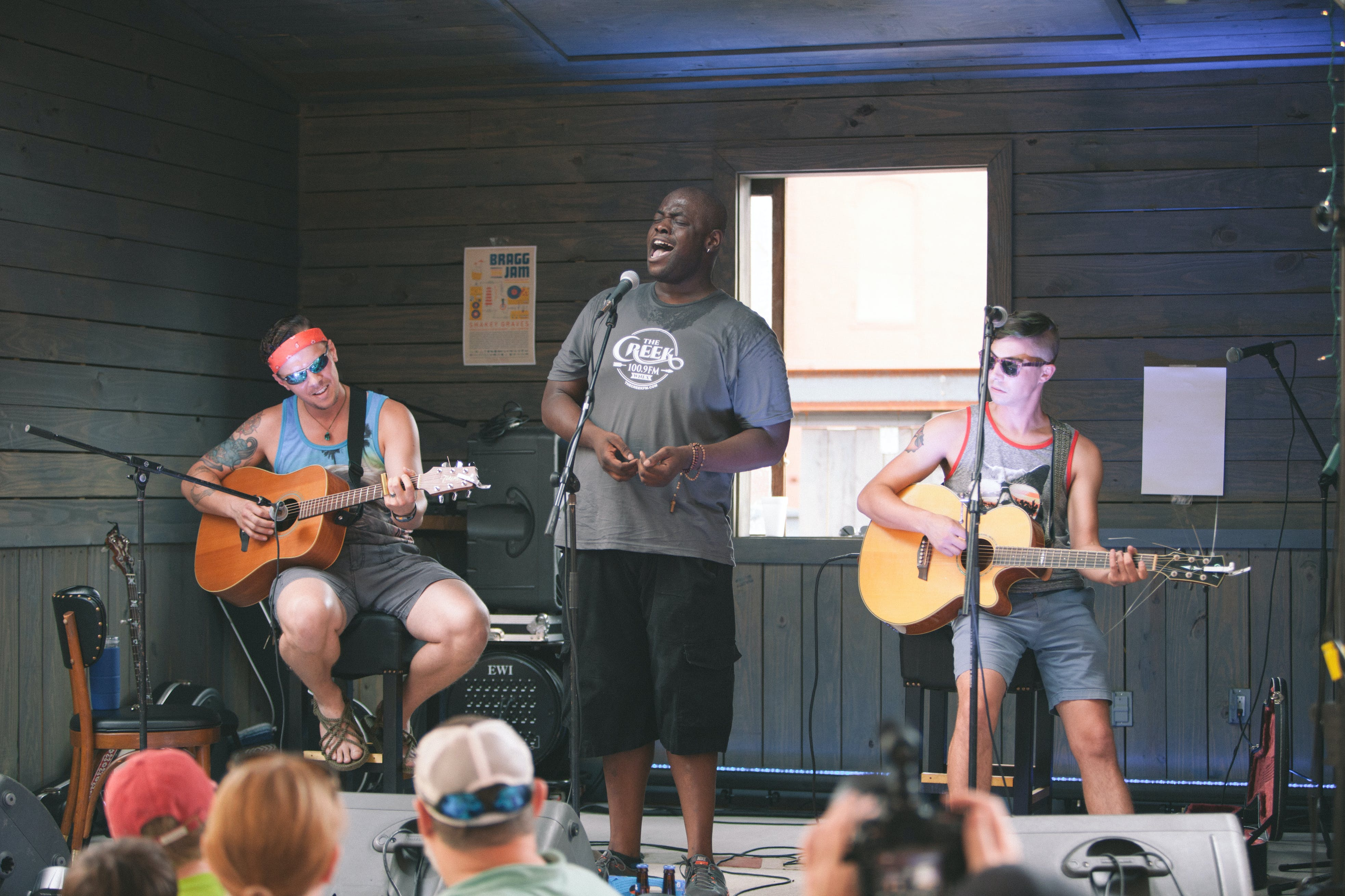<p>Bragg Jam brings local and national acts like Charles Davis, pictured here, to Macon year-round, and will be expanding their programming through Knight funding. Photo by Tyler Shores.</p>
