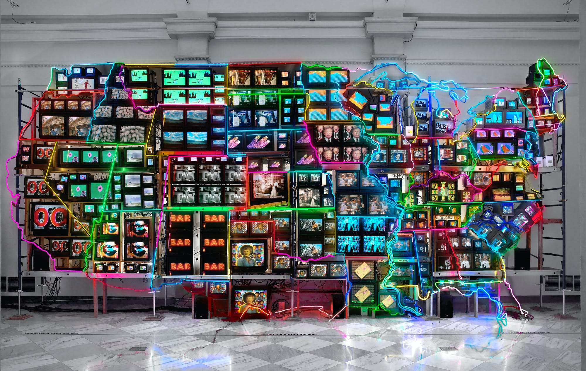 "<p><em>Nam June Paik, Electronic Superhighway: Continental U.S., Alaska, Hawaii, 1995, Smithsonian American Art Museum, &copy; Nam June Paik Estate, Gift of the artist, 2002.23. Data Source: <a href=""https://americanart.si.edu/artwork/electronic-superhighway-continental-us-alaska-hawaii-71478"" rel=""noopener noreferrer"" target=""_blank"">Smithsonian American Art Museum</a>.</em></p>"