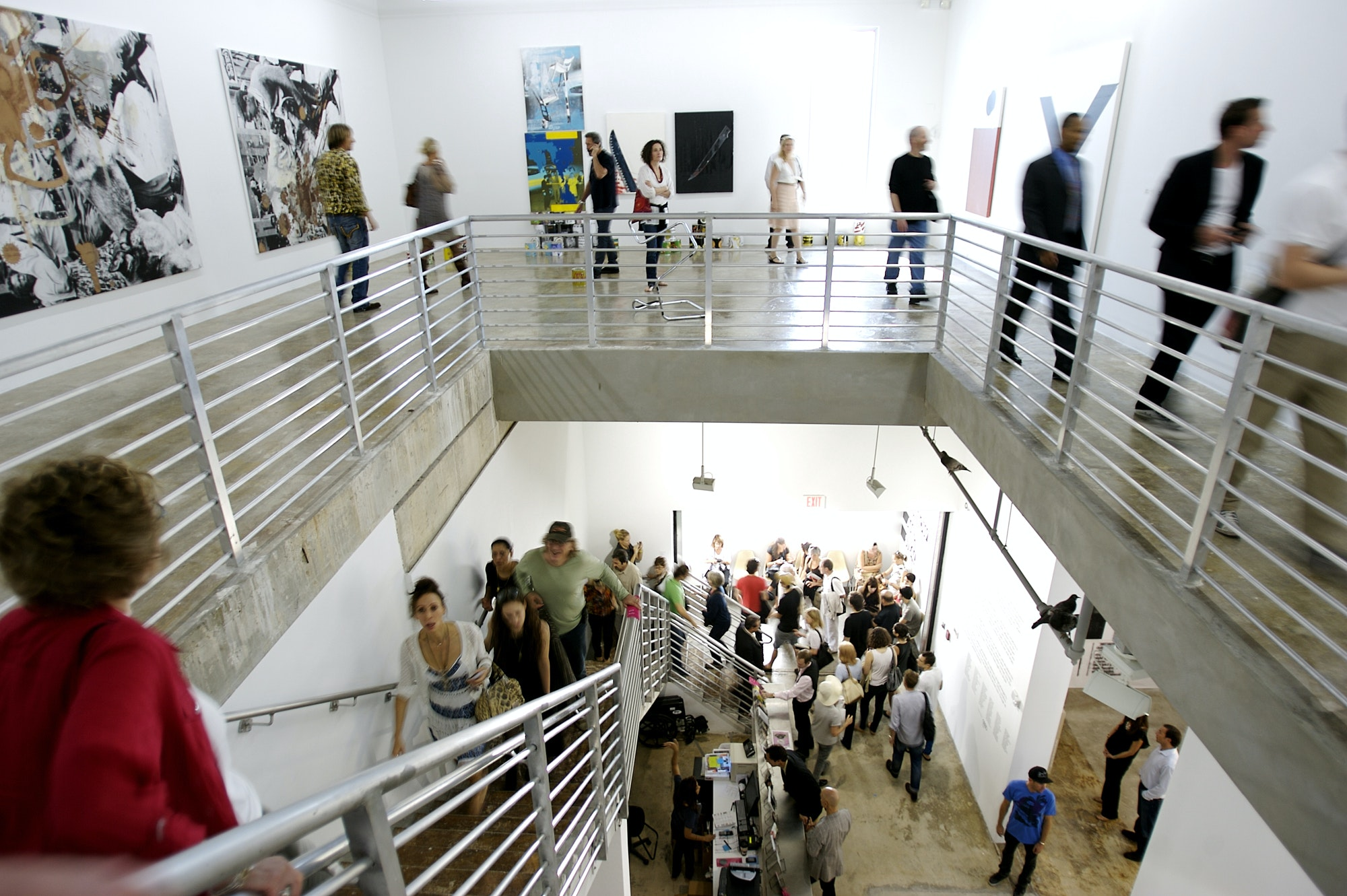 <p><em>Visitors at the Rubell Family Collection, receiving $500,000 from Knight to develop ambitious visual arts programming and support the careers of emerging artists and curators through curatorial internships and artist residencies. Credit: Chi Lam.</em></p>
