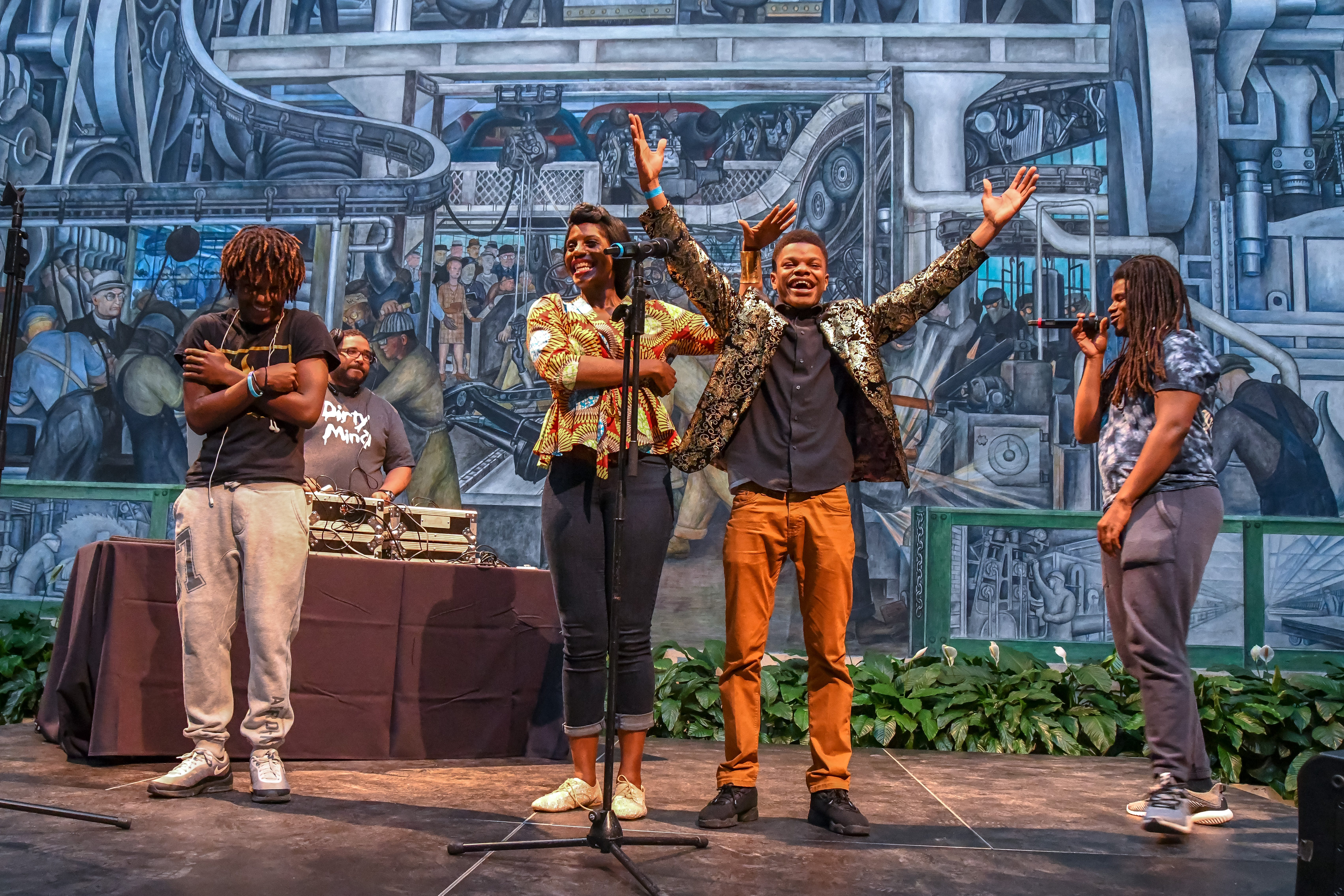 <p><em>Youth performing at an MC Olympics competition at the Detroit Institute of Arts. Photo Credit: Doug Coombe.&nbsp;</em></p>