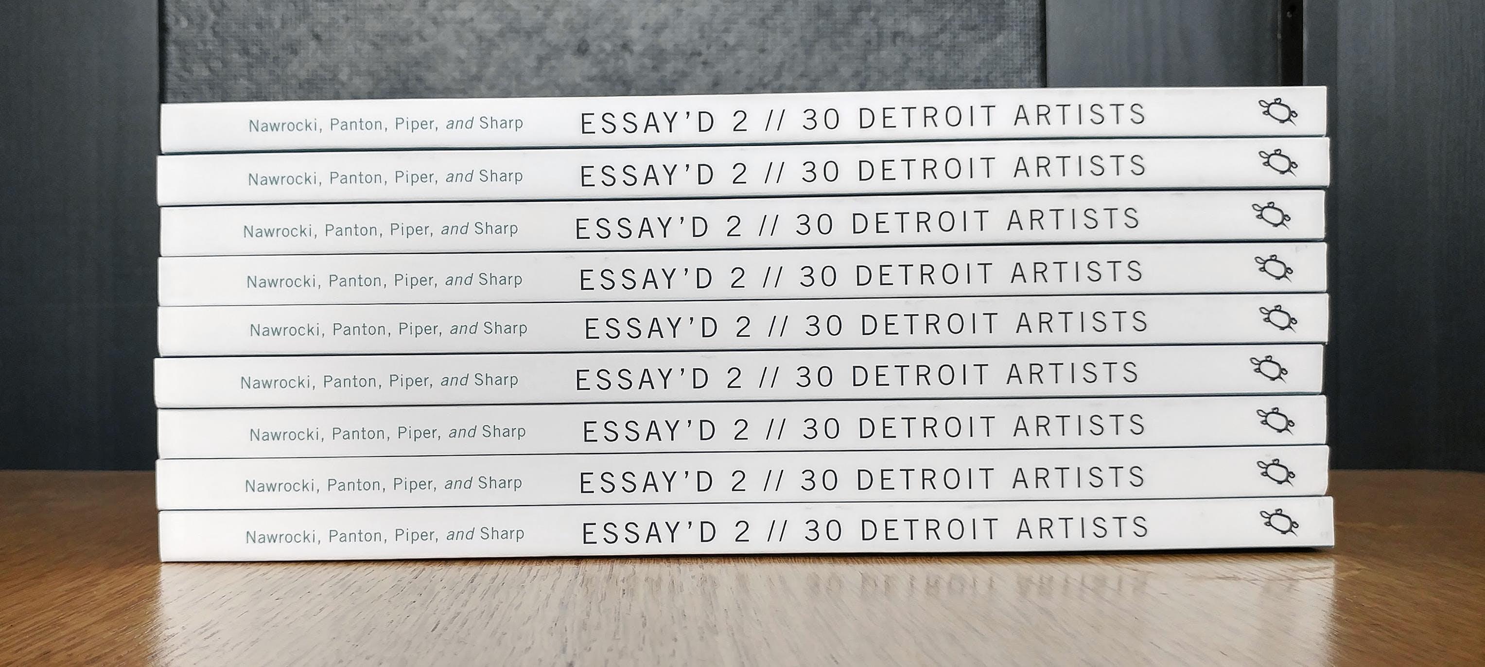<p><em>Copies of Essay&#39;d Vol 2 (2017). Photo Credit: Matthew Piper.&nbsp;</em></p>
